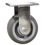 "5"" Rigid Caster with Thermoplastic Rubber Tread Wheel and Ball Bearings"