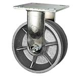 5 Inch Rigid Caster with V Groove Wheel