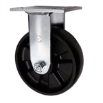 Rigid Caster with Glass Filled Nylon Wheel
