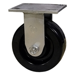 6 Inch Rigid Caster with Phenolic Wheel and Ball Bearings