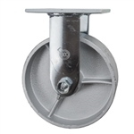 6 Inch Rigid Caster with Semi Steel Wheel and Ball Bearings