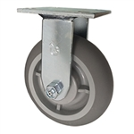 "6"" Rigid Caster with Thermoplastic Rubber Tread Wheel and Ball Bearings"
