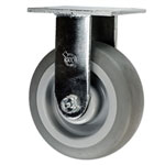"6"" Rigid Caster with Thermoplastic Rubber Tread Wheel"