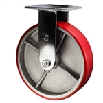 8 Inch Rigid Caster with Polyurethane Tread Wheel and Ball Bearings
