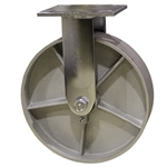 8 Inch Rigid Caster with Semi Steel Wheel with Ball Bearings