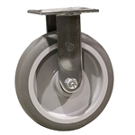 "8"" Rigid Caster with Thermoplastic Rubber Tread Wheel and Ball Bearings"