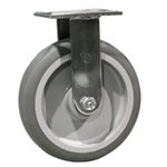 "8"" Rigid Caster with Thermoplastic Rubber Tread Wheel"