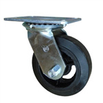 5 Inch Swivel Caster with Rubber Tread Wheel