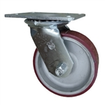6 Inch Swivel Caster Poly on Aluminum