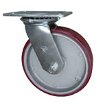 8 Inch Swivel Caster Poly on Aluminum