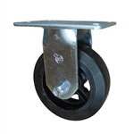 6 Inch Rigid Caster with Rubber Tread Wheel