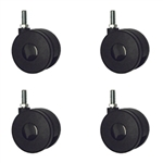 threaded metric stem casters set of 4