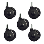 threaded metric stem hardwood floor safe casters set of 5