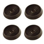 "1-3/4"" Round Rubber Furniture Cup - Prevent Sliding - Set of 4"