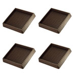"3"" Square Rubber Furniture Cup - Prevent Sliding - Set of 4"