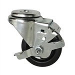 "3-1/2"" Swivel Caster with Phenolic Tread and Brake"