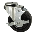 "4"" Swivel Caster with Phenolic Tread and Brake"