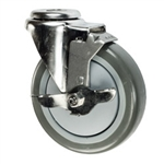 "5"" Bolt Hole Swivel Caster with Polyurethane Tread and Brake"