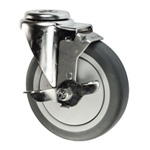 "5"" Swivel Caster with Thermoplastic Rubber Tread and Brake"