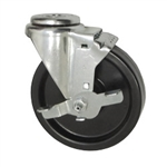 "5"" Swivel Caster with Phenolic Tread and Brake"