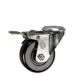 "3"" Bolt Hole Swivel Caster with Phenolic Wheel and Total Lock Brake"