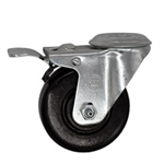 "3-1/2"" Bolt Hole Swivel Caster with Phenolic Wheel and Total Lock Brake"