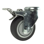 "3-1/2"" Swivel Caster with Thermoplastic Rubber Tread and Total Lock Brake"