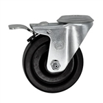 "4"" Bolt Hole Swivel Caster with Phenolic Wheel and Total Lock Brake"
