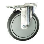 "6"" Swivel Caster with Thermoplastic Rubber Tread and Total Lock Brake"