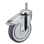 5 inch chrome total lock swivel caster for hospital applications