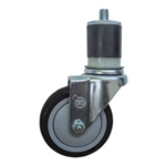 "4"" Expanding Stem Swivel Caster with Polyurethane Tread"