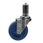 "4"" Expanding Stem Swivel Caster with Solid Polyurethane Wheel"