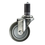 "4"" Expanding Stem Swivel Caster with Thermoplastic Rubber Tread"