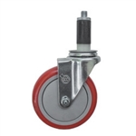 "5"" Expanding Stem Swivel Caster with Polyurethane Tread"