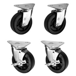 4 triangle top plate casters