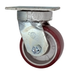 4 Inch Kingpinless Swivel Caster with Polyurethane Tread on Aluminum Core Wheel and Ball Bearings