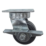 4 Inch Kingpinless Swivel Caster with Phenolic Wheel, Ball Bearings, and brake