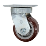 4 Inch Kingpinless Swivel Caster with Polyurethane on Polyolefin Wheel and Ball Bearings