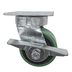 4 Inch Kingpinless Swivel Caster with Polyurethane Tread Wheel and Brake