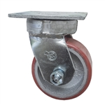 4 Inch Kingpinless Swivel Caster with Polyurethane Tread Wheel