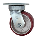 5 Inch Kingpinless Swivel Caster with Polyurethane Tread on Aluminum Core Wheel and Ball Bearings