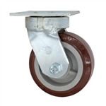 5 Inch Kingpinless Swivel Caster with Polyurethane on Polyolefin Wheel with Ball Bearings