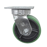 5 Inch Kingpinless Swivel Caster with Polyurethane Tread Wheel and Ball Bearings