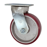 6 Inch Swivel Caster with Polyurethane Tread on Aluminum Core Wheel