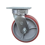 6 Inch Kingpinless Swivel Caster with Polyurethane Tread Wheel and Ball Bearings