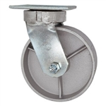 6 Inch Kingpinless Swivel Caster with Semi Steel Wheel and Ball Bearings