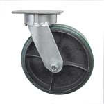 8 Inch Kingpinless Swivel Caster with Polyurethane Tread Wheel and Ball Bearings