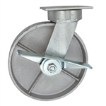 8 Inch Kingpinless Swivel Caster with Brake and Semi Steel Wheel with Ball Bearings