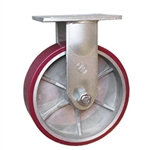 10 Inch Rigid Caster with Polyurethane Tread on Aluminum Core Wheel