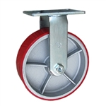 10 Inch Rigid Caster with Polyurethane Tread Wheel